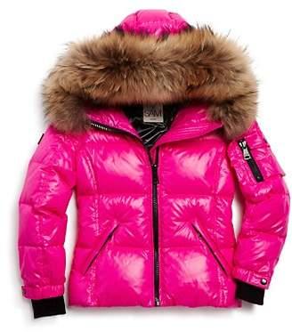 SAM. Girls' Blake Fur-Trimmed Down Jacket - Little Kid