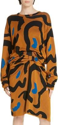 Christian Wijnants Kaori Leopard Jacquard Sweater