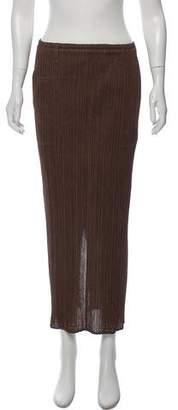 Pleats Please Issey Miyake Plissé Midi Skirt