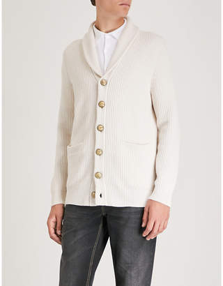 Brunello Cucinelli Cable-knit wool and cashmere-blend cardigan