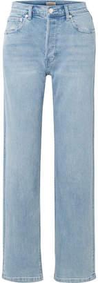 Burberry High-rise Straight-leg Jeans - Indigo
