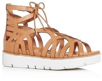 Kenneth Cole Gentle Souls Women's Larina Leather Gladiator Platform Sandals