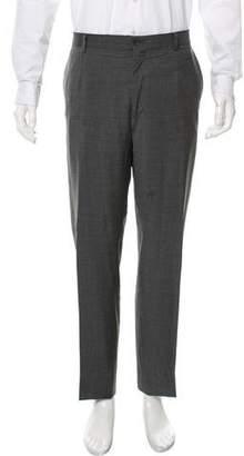 Dolce & Gabbana Flat Front Wool Pants