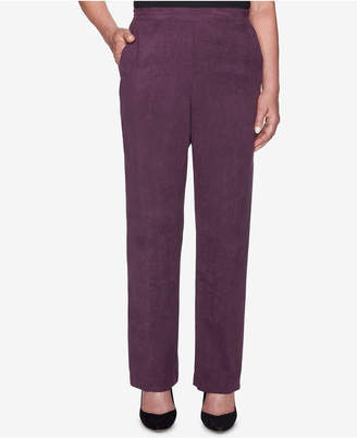 Alfred Dunner Victoria Falls Faux-Suede Pull-On Pants