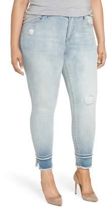 Seven7 Double Raw Hem High Waist Skinny Jeans