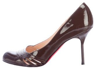 Christian Louboutin  Christian Louboutin Patent Leather Round-Toe Pumps