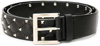 Valentino Rockstud quilted belt