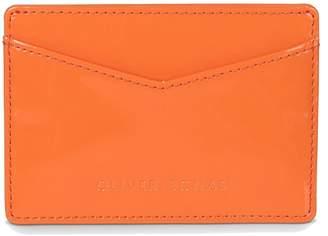 Oliver Bonas Womens Cora Patent Card Holder - Orange