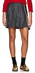 Thom Browne Women's Two-Tone Pleated Wool Miniskirt - Dark Gray