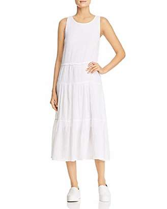 Three Dots Women's Cotton Gauze Long Loose Dress