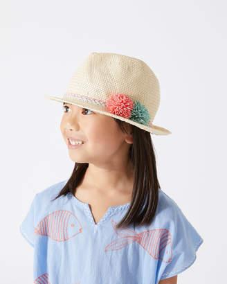 Jigsaw Pom Pom Beach Hat