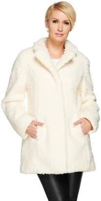 Isaac Mizrahi Live! Faux Fur Coat