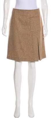Max Mara Weekend Virgin Wool Knee-Length Skirt