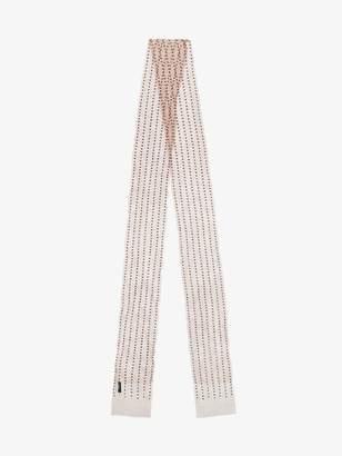 Dries Van Noten terracotta Mesh scarf with beads