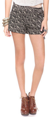 Forever 21 Floral Tie Waist Shorts