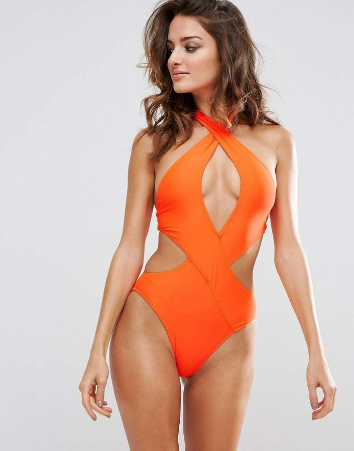PrettyLittleThing Cut Out Swimsuit