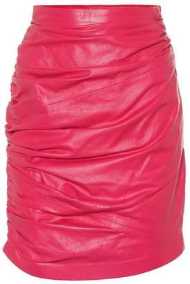 Dundas Leather miniskirt