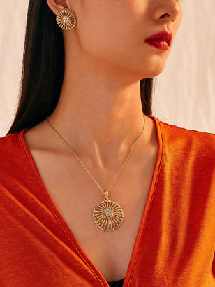 Shein Hollow Out Round Earrings & Necklace 3pcs