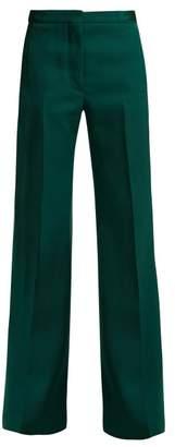 Rochas Tailored Wool Trousers - Womens - Dark Green
