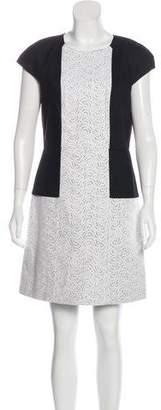 Tibi Linen Colorblock Dress