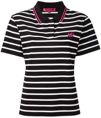 McQ Swallow embroidered polo shirt