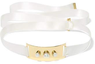 Cornelia Webb - Gold-plated, Silk And Pearl Choker - One size