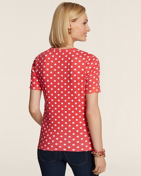 Chico's Dotty Dot Gemma Elbow Tee