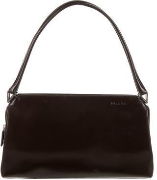 pradaPrada Logo Leather Shoulder Bag