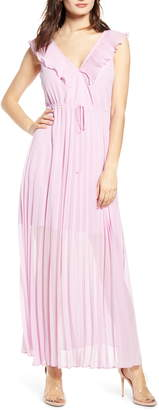 Leith Knife Pleat Sleeveless Maxi Dress