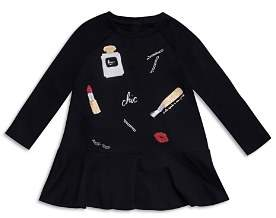 Kate Spade Girls' Glamour Collage Embroidered Dress - Little Kid