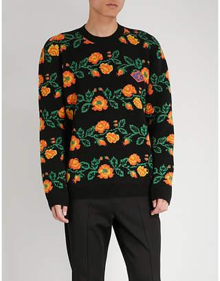 Gucci Floral-jacquard wool jumper