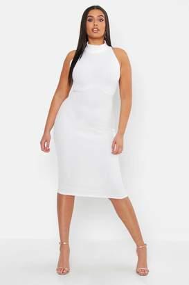 boohoo Plus Bandage Halterneck Midi Dress