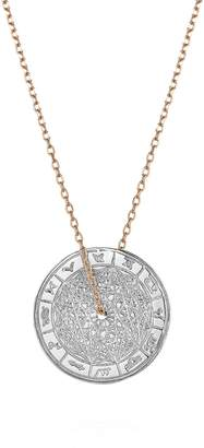 Laura Lee Jewellery Zodiac Wheel Silver Necklace