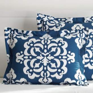 Pottery Barn Teen Ikat Medallion Sham, Standard, Royal Navy