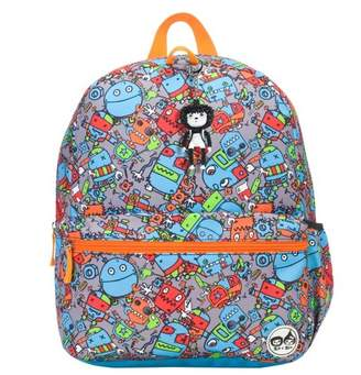 Babymel Zip & Zoe Junior Kids' Backpack - Robots Blue