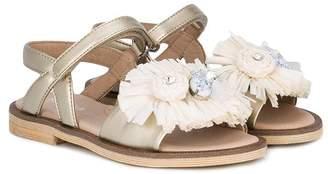 Florens appliqué open toe sandals