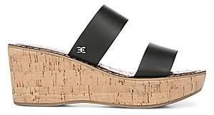 Sam Edelman Women's Rydell Leather Wedge Sandals