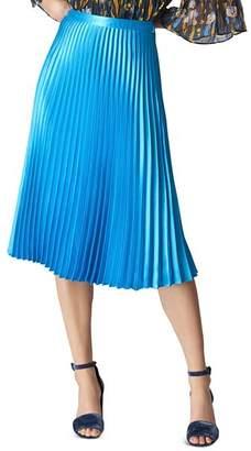 Whistles Pleated Satin Skirt