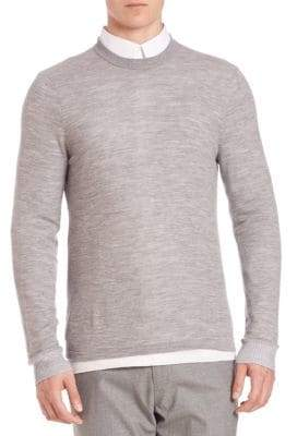 Vince Double Layer Crewneck Sweater