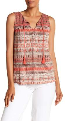 Lucky Brand Engineered Border Tank Top