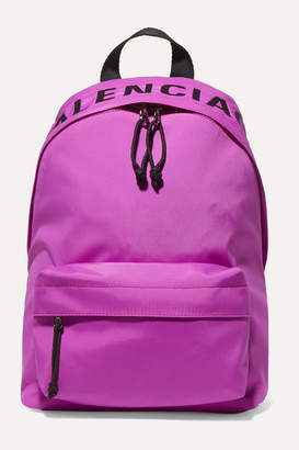 Balenciaga Wheel Embroidered Shell Backpack - Pink