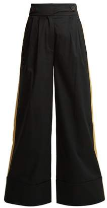 Palmer Harding Palmer//Harding Palmer//harding - Side Stripe Wide Leg Trousers - Womens - Black