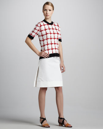Marni A-Line Cotton Cady Skirt