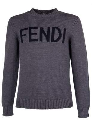 Fendi Logo Patch Sweatshirt