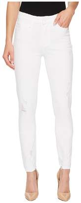 Paige Hoxton Ankle in Crisp White Destructed Women's Jeans