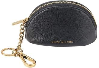Love & Lore LOVE AND LORE DOME COIN PURSE KEYCHAIN BLACK