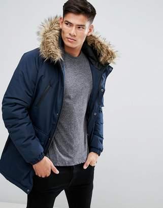D-Struct Faux Fur Trimmed Parka Jacket