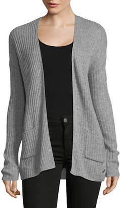 Manguun Ribbed Long-Sleeve Open Front Cardigan