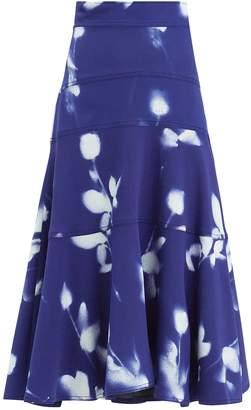 Proenza Schouler Floral Midi Skirt