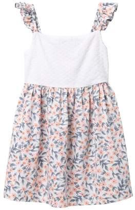 Harper Canyon Printed Schiffly Dress (Little Girls)